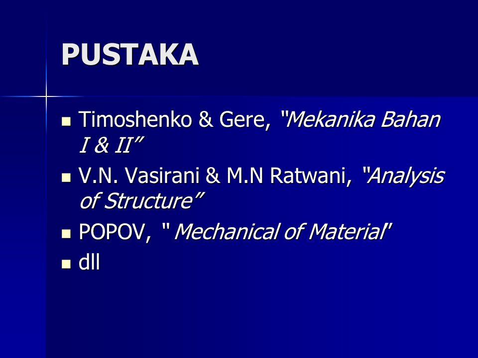PUSTAKA Timoshenko & Gere, Mekanika Bahan I & II
