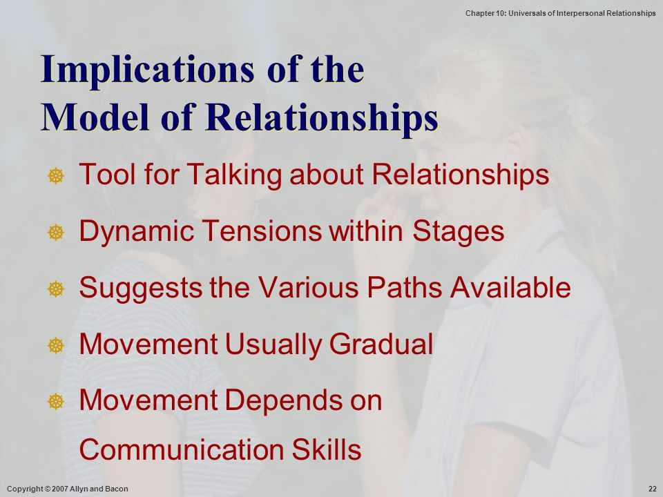 Implications of the Model of Relationships