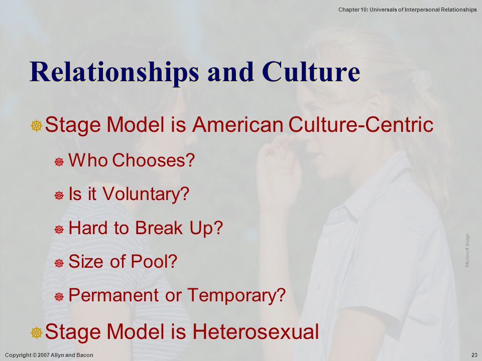 Relationships and Culture