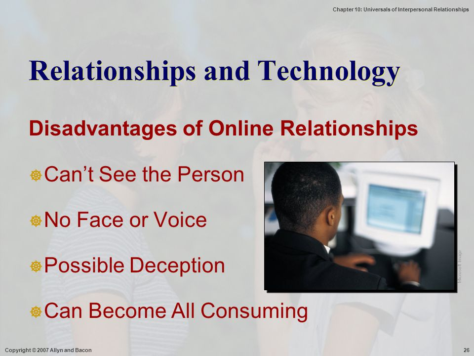 Relationships and Technology