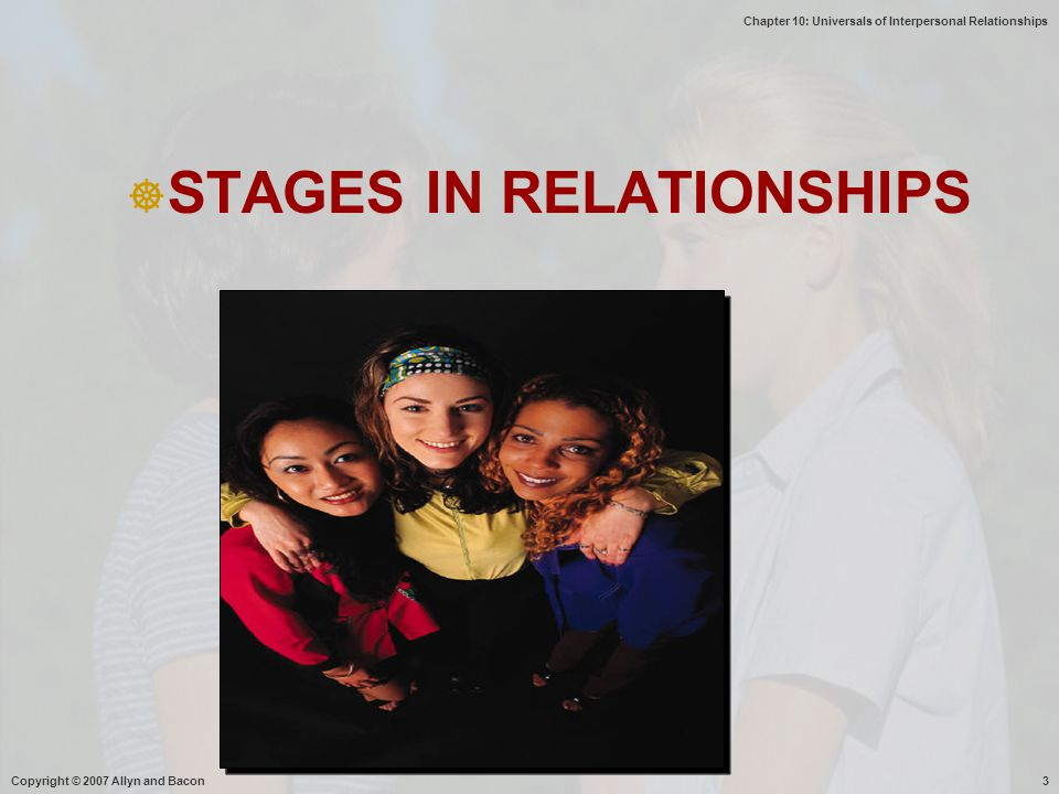 STAGES IN RELATIONSHIPS