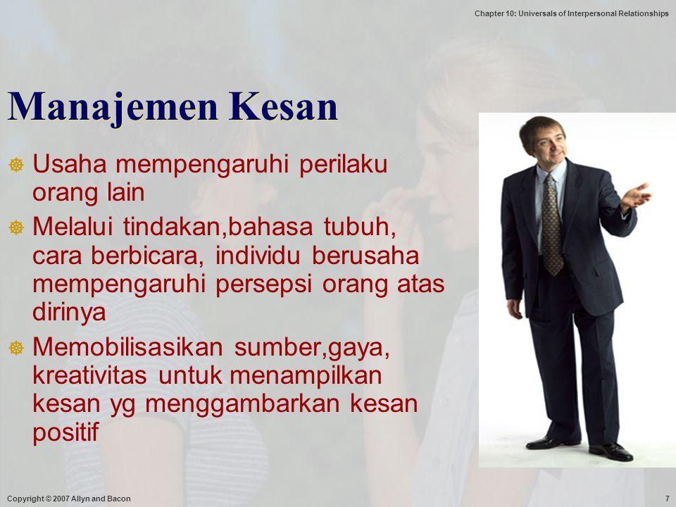 Manajemen Kesan Usaha mempengaruhi perilaku orang lain