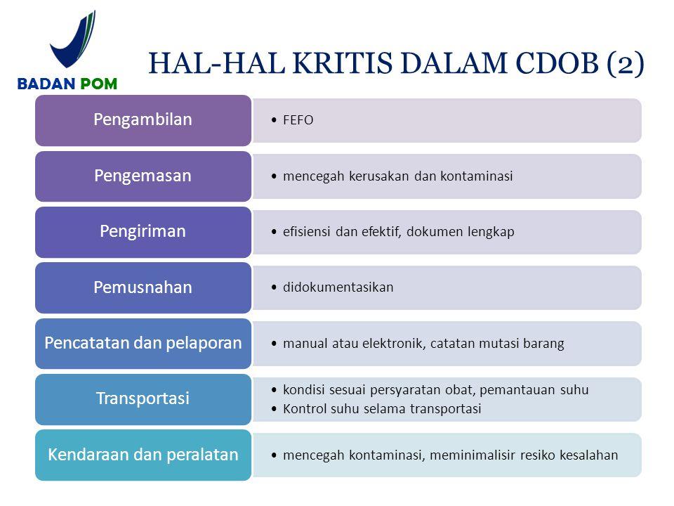 HAL-HAL KRITIS DALAM CDOB (2)