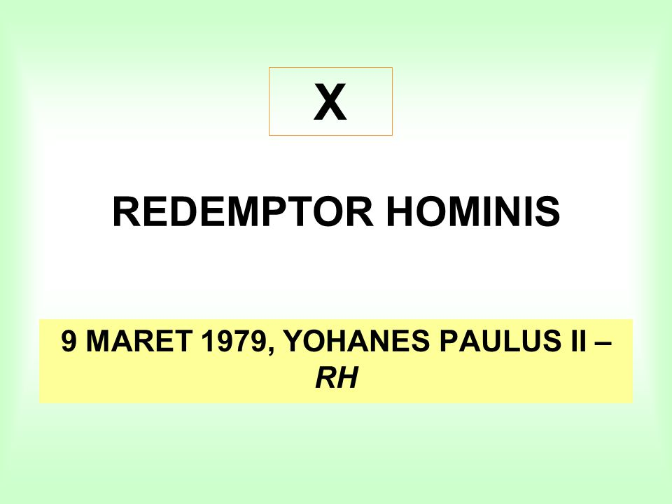 9 MARET 1979, YOHANES PAULUS II – RH