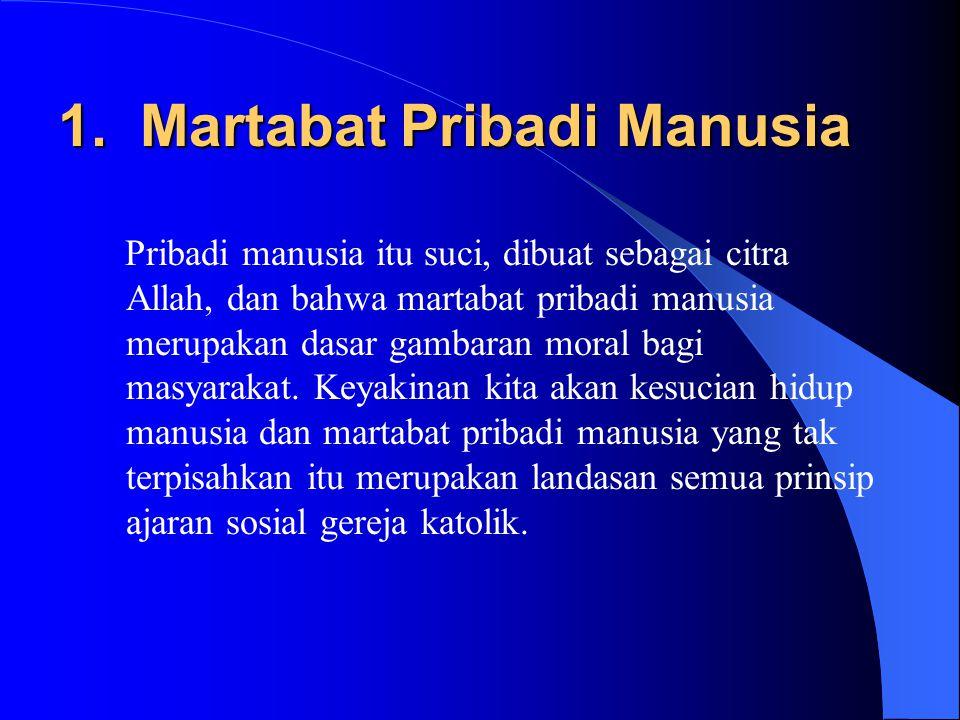 1. Martabat Pribadi Manusia