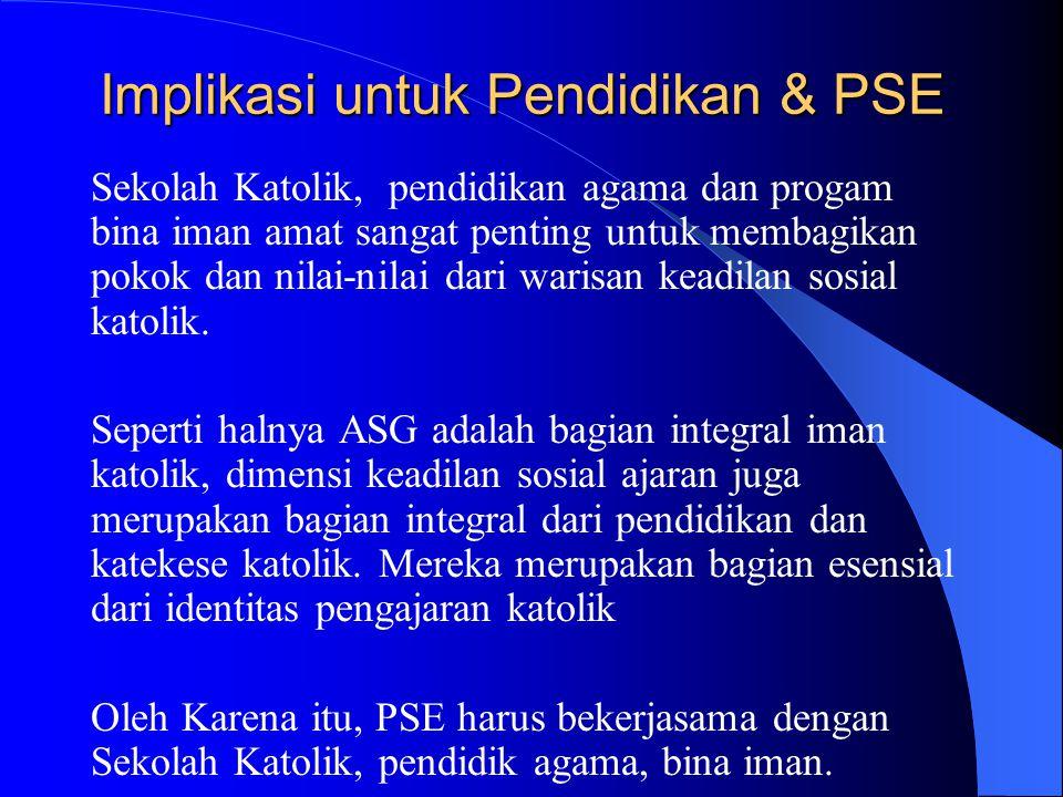 Implikasi untuk Pendidikan & PSE