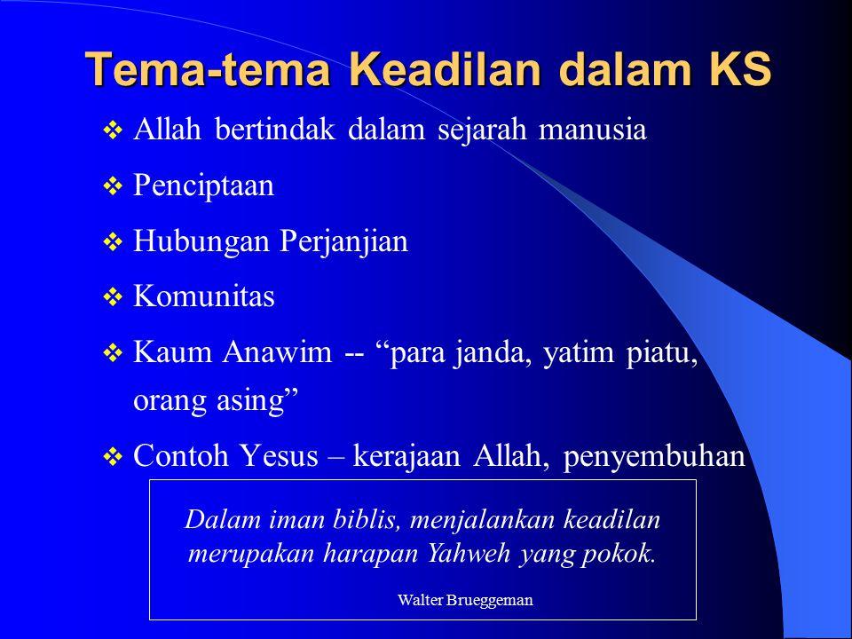 Tema-tema Keadilan dalam KS