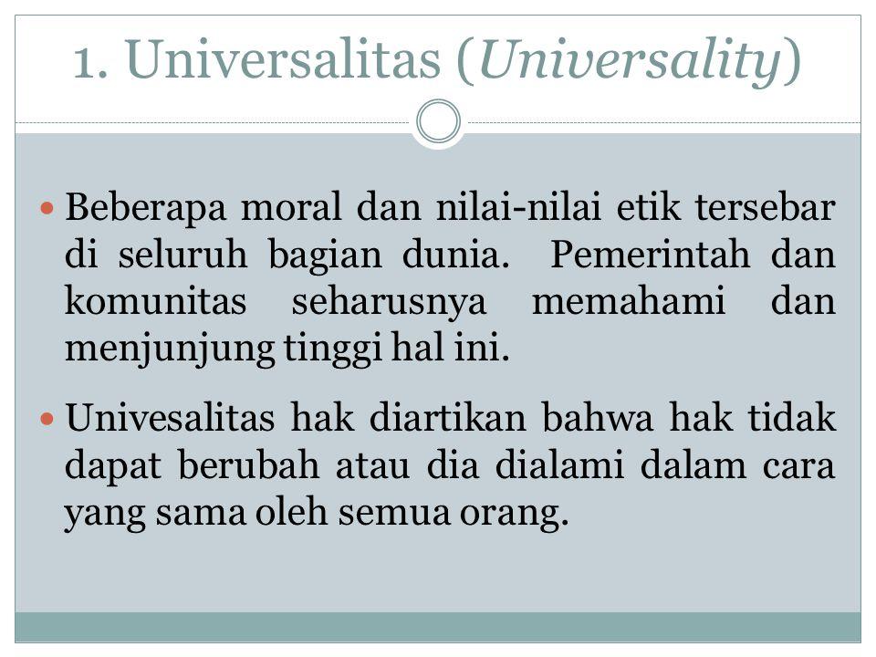 1. Universalitas (Universality)
