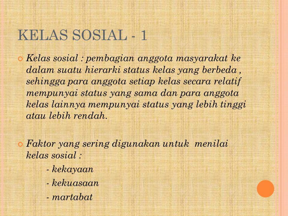 KELAS SOSIAL - 1