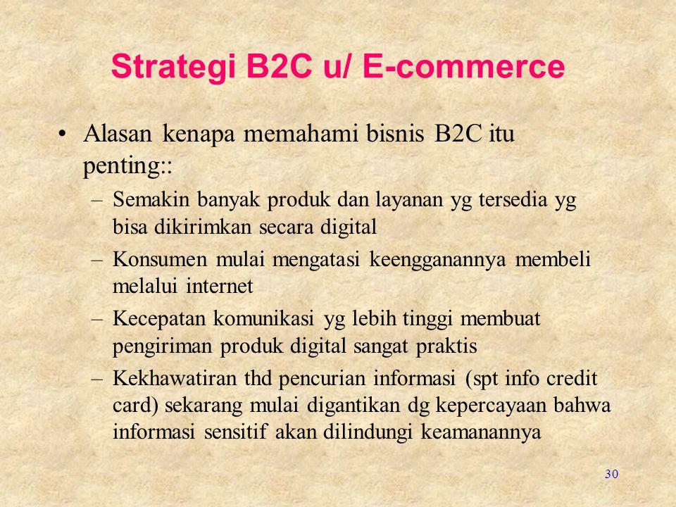 Strategi B2C u/ E-commerce