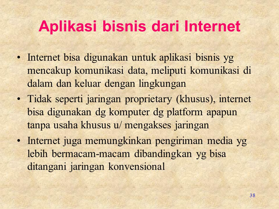 Aplikasi bisnis dari Internet