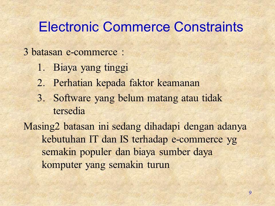 Electronic Commerce Constraints