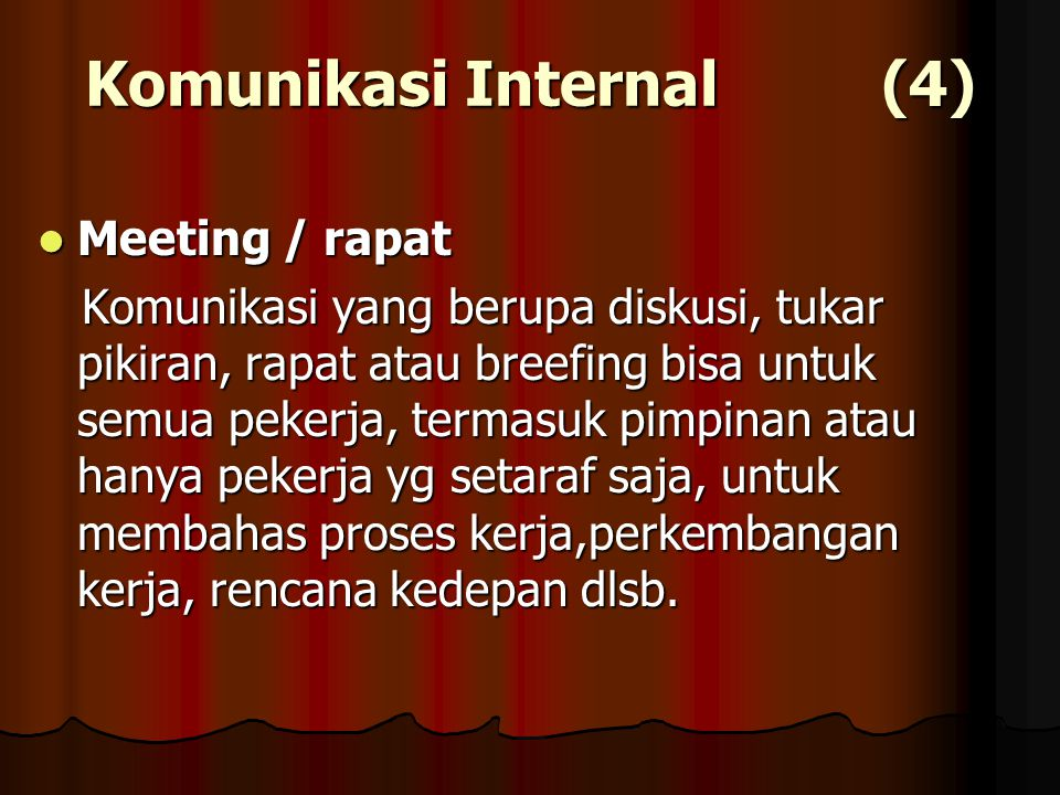 Komunikasi Internal (4)