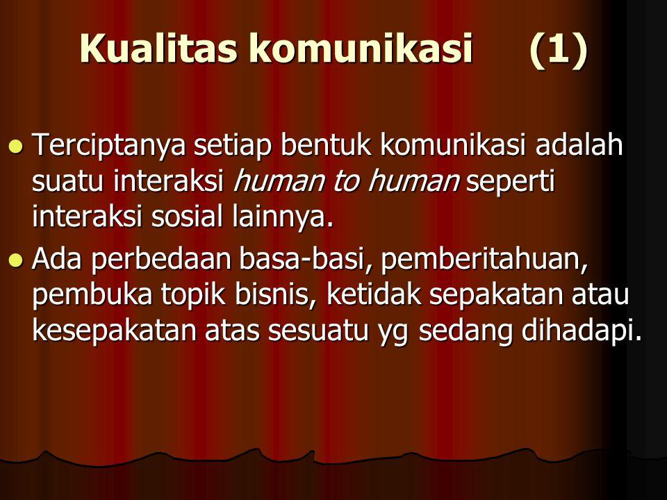 Kualitas komunikasi (1)