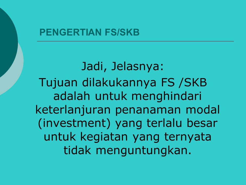 PENGERTIAN FS/SKB Jadi, Jelasnya: