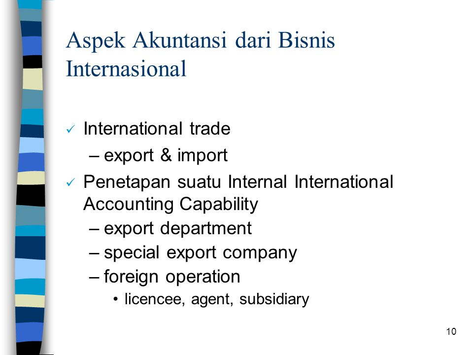 Aspek Akuntansi dari Bisnis Internasional