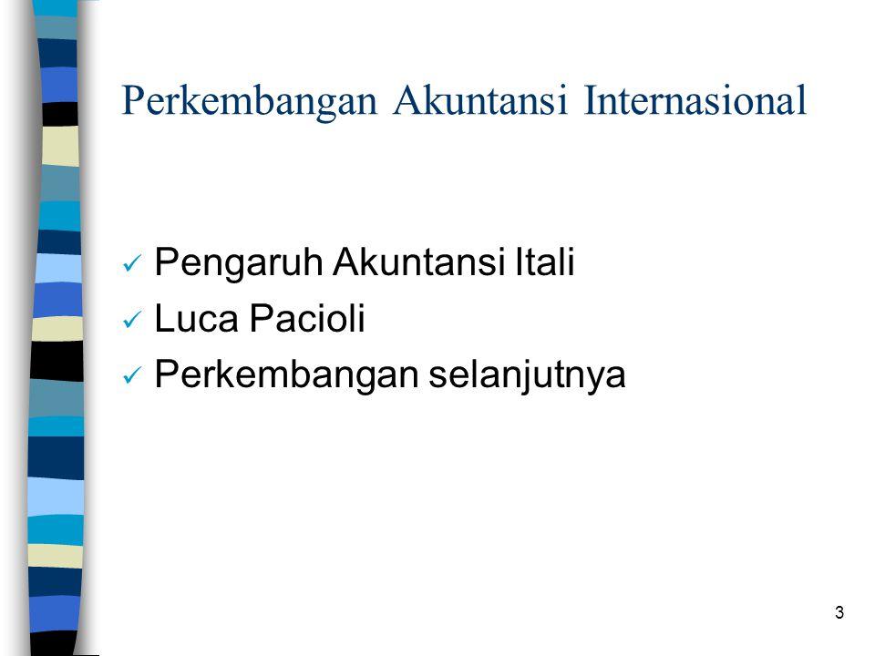 Perkembangan Akuntansi Internasional
