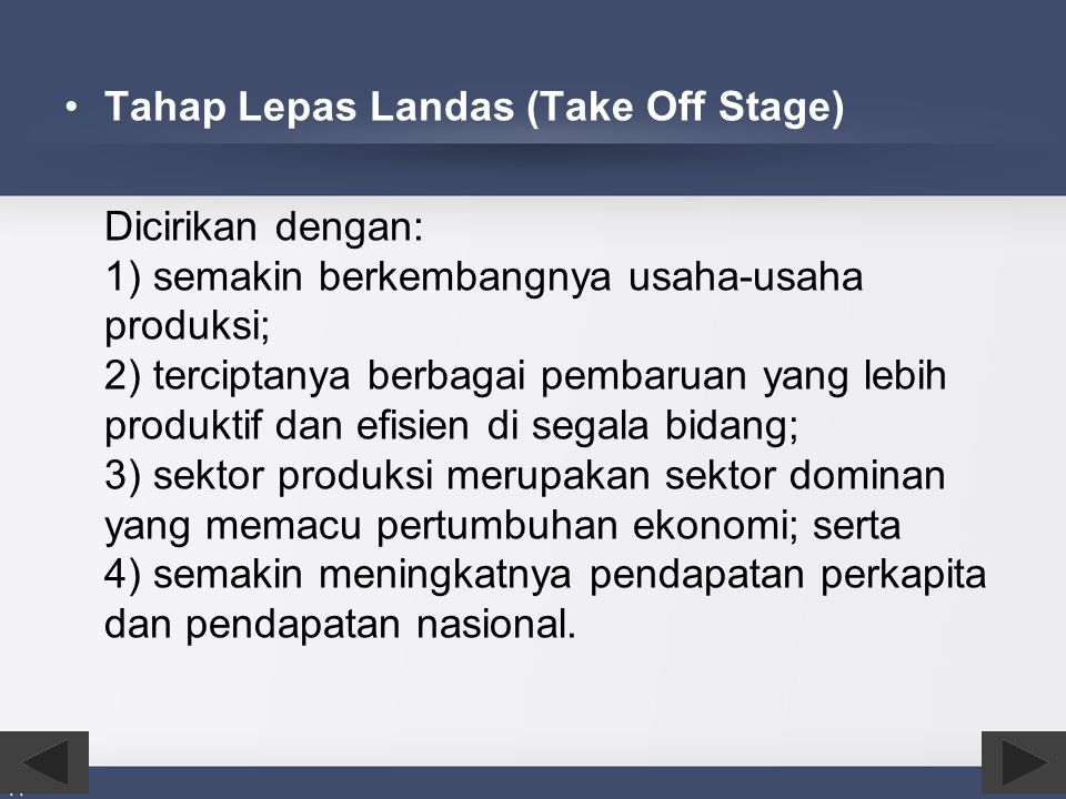 Tahap Lepas Landas (Take Off Stage)