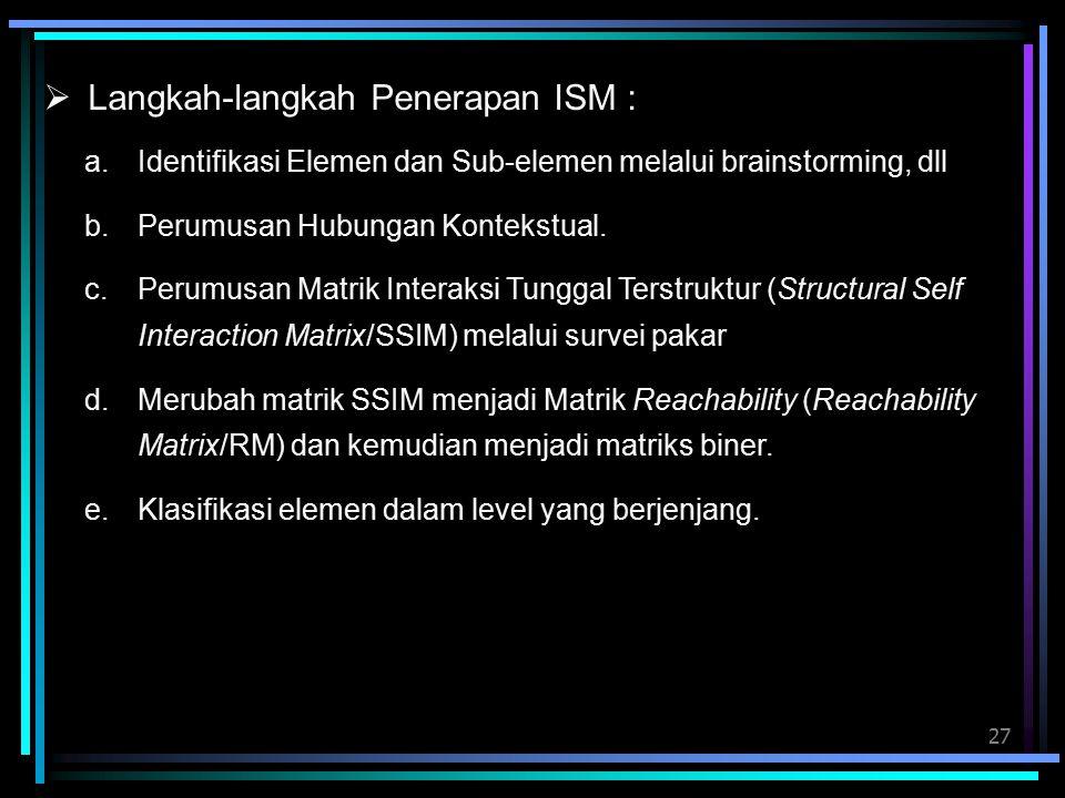 Langkah-langkah Penerapan ISM :