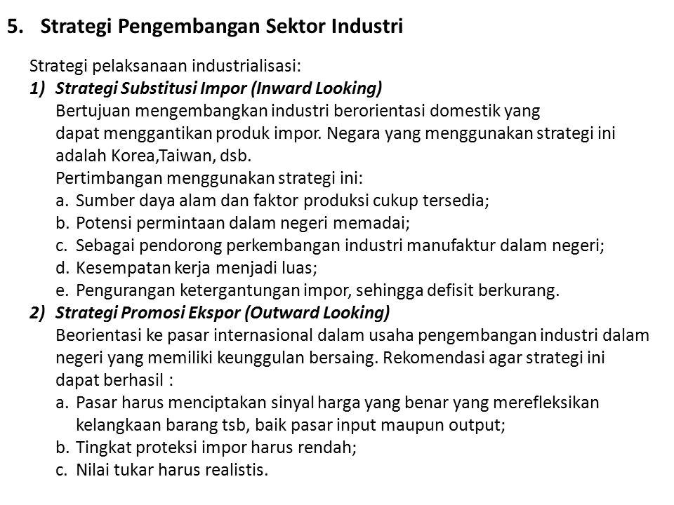 Strategi Pengembangan Sektor Industri