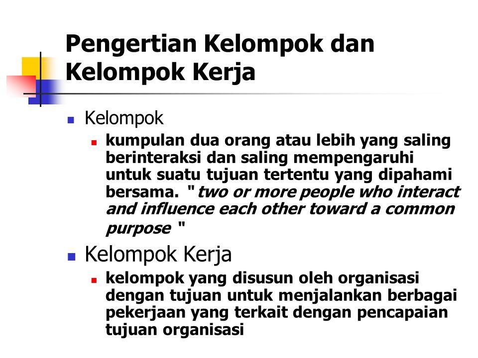 Pengertian Kelompok dan Kelompok Kerja