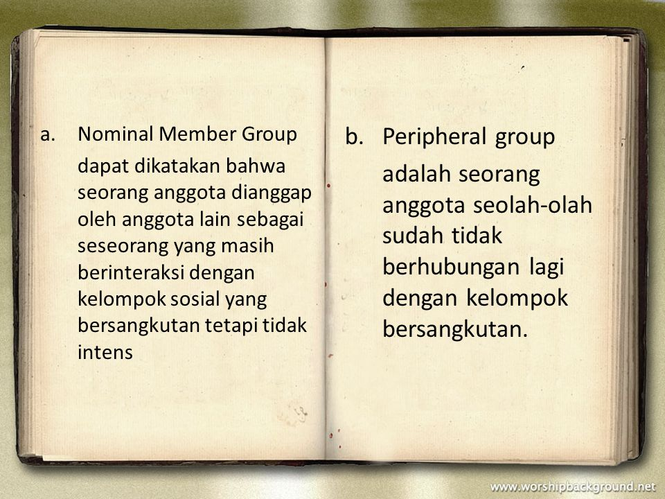 Nominal Member Group