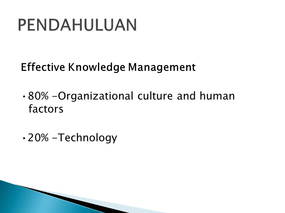 PENDAHULUAN Effective Knowledge Management