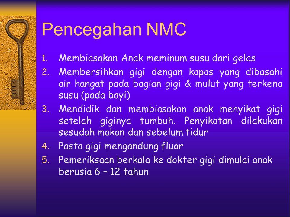 Pencegahan NMC Membiasakan Anak meminum susu dari gelas