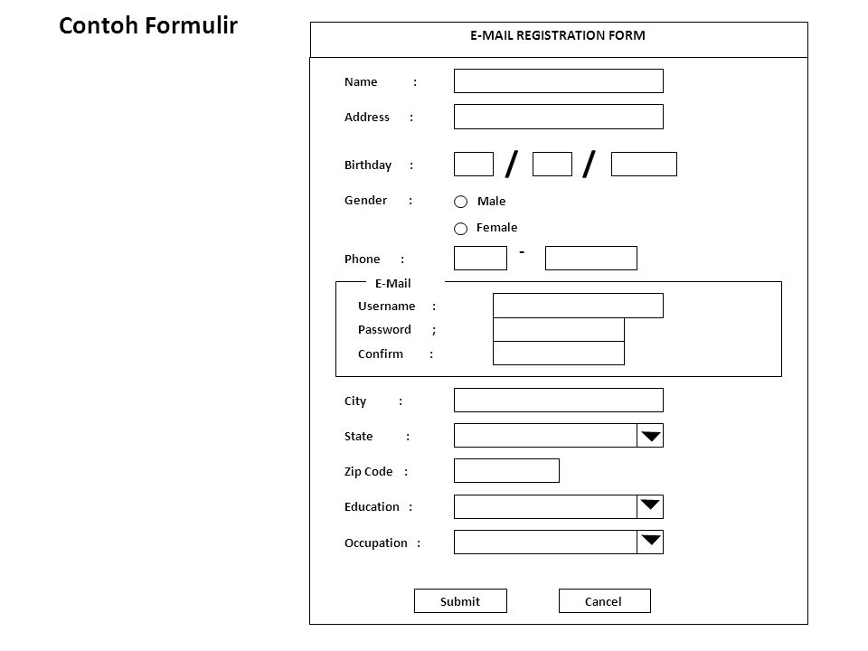 E-MAIL REGISTRATION FORM