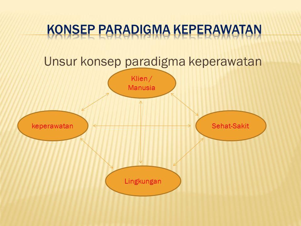 Konsep Paradigma Keperawatan