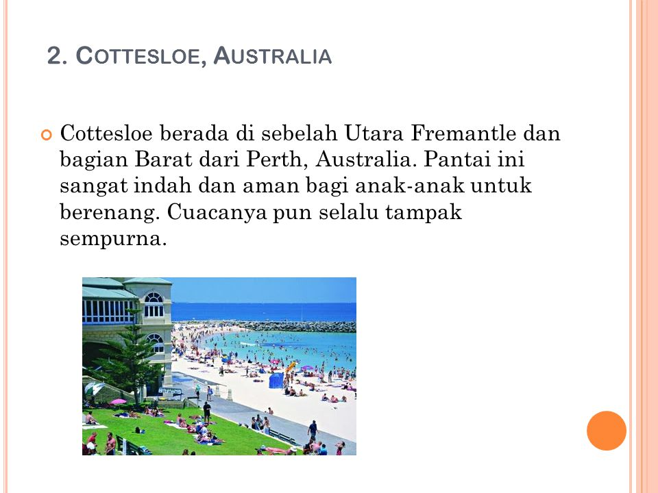 2. Cottesloe, Australia