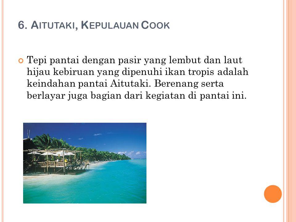 6. Aitutaki, Kepulauan Cook