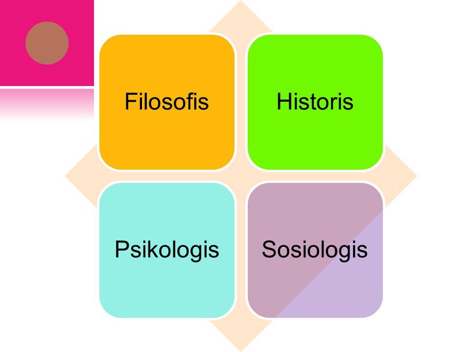 Filosofis Historis Psikologis Sosiologis