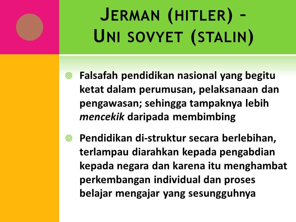 Jerman (hitler) – Uni sovyet (stalin)