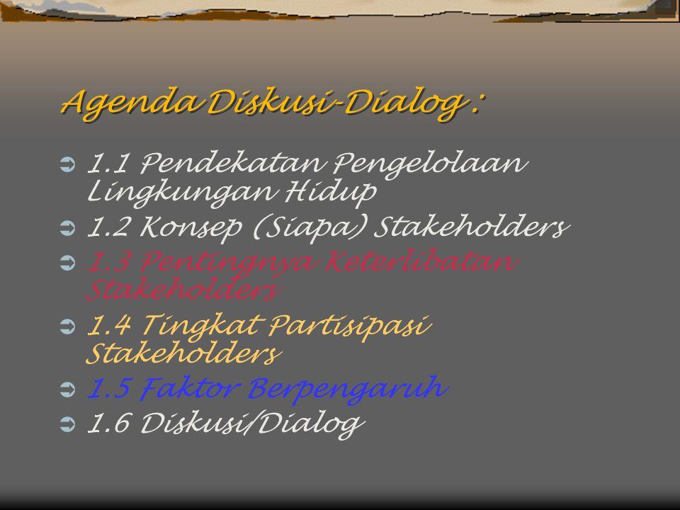 Agenda Diskusi-Dialog :