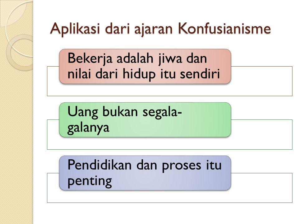 Aplikasi dari ajaran Konfusianisme