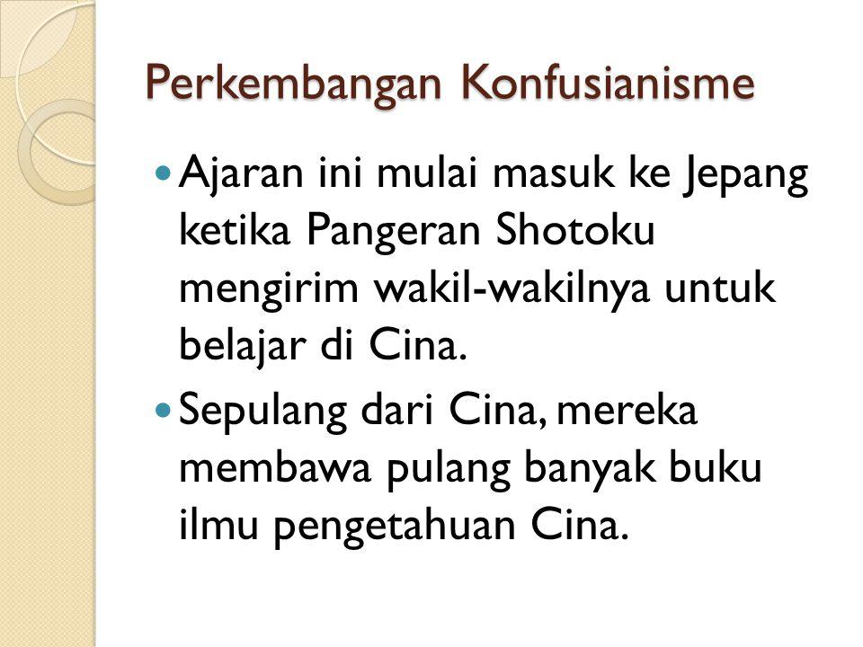 Perkembangan Konfusianisme