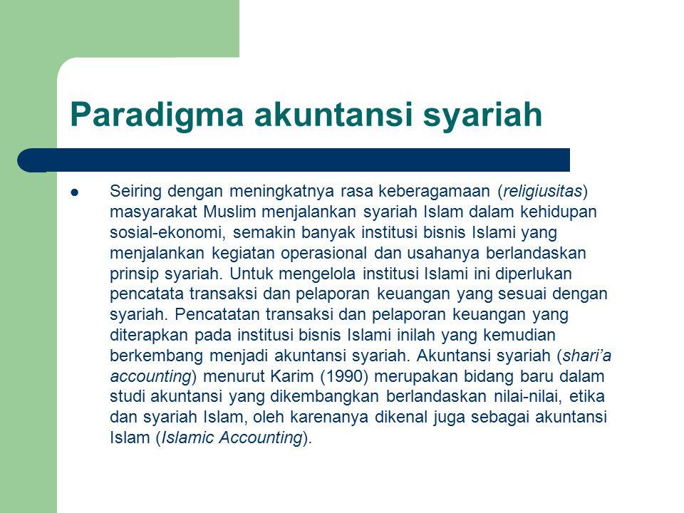 Paradigma akuntansi syariah