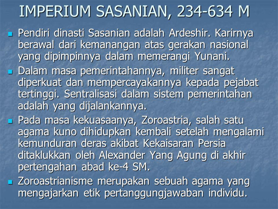 IMPERIUM SASANIAN, 234-634 M