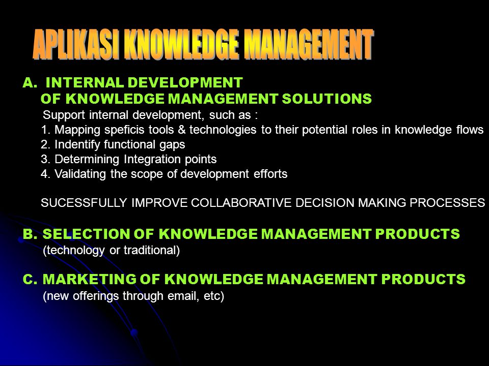 APLIKASI KNOWLEDGE MANAGEMENT