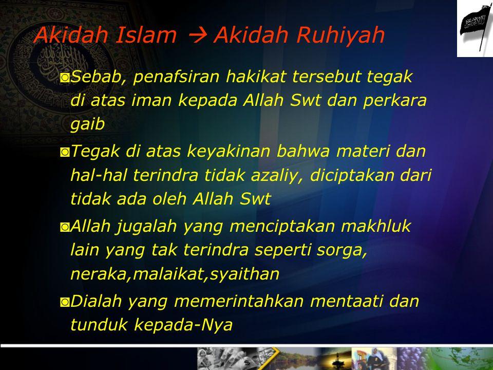 Akidah Islam  Akidah Ruhiyah