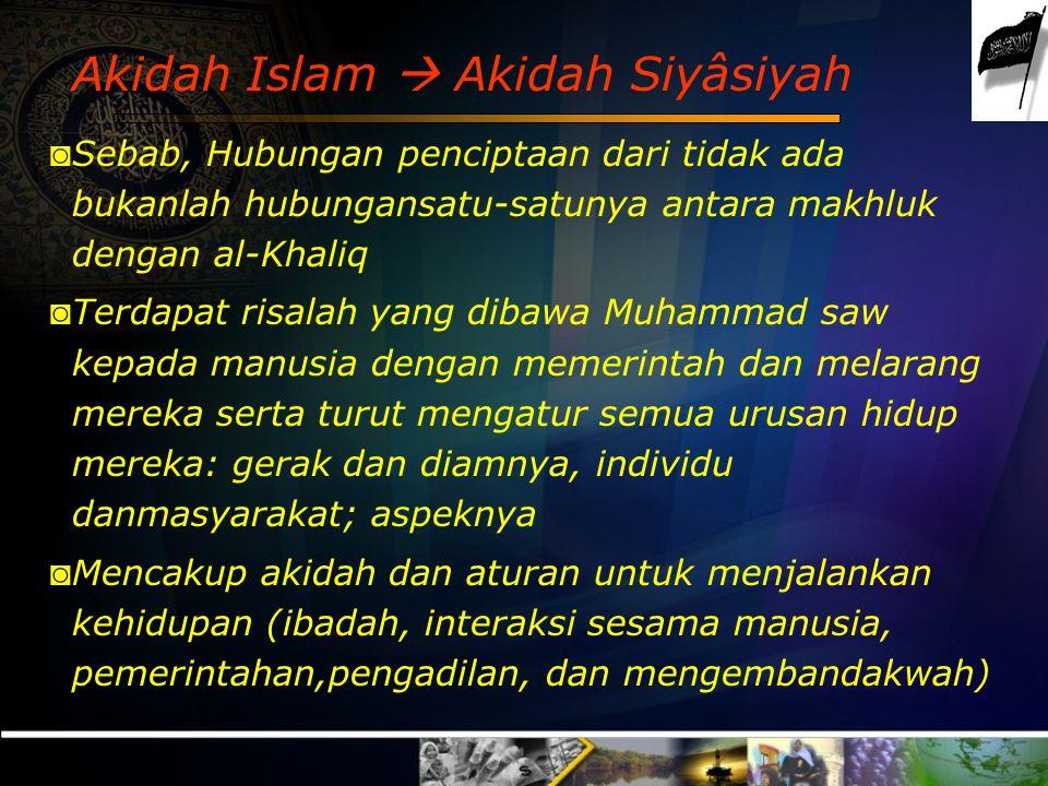 Akidah Islam  Akidah Siyâsiyah
