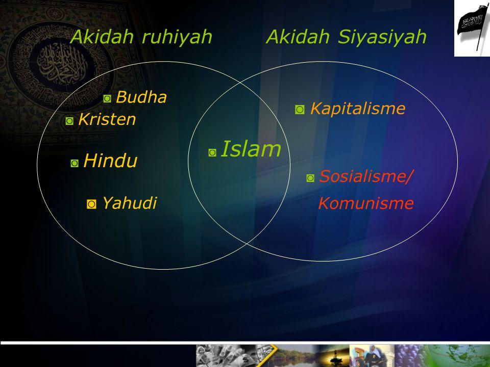 Akidah ruhiyah Akidah Siyasiyah Kapitalisme Komunisme Yahudi Budha
