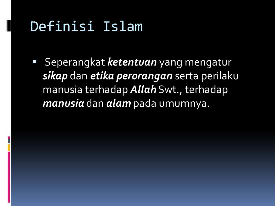 Definisi Islam