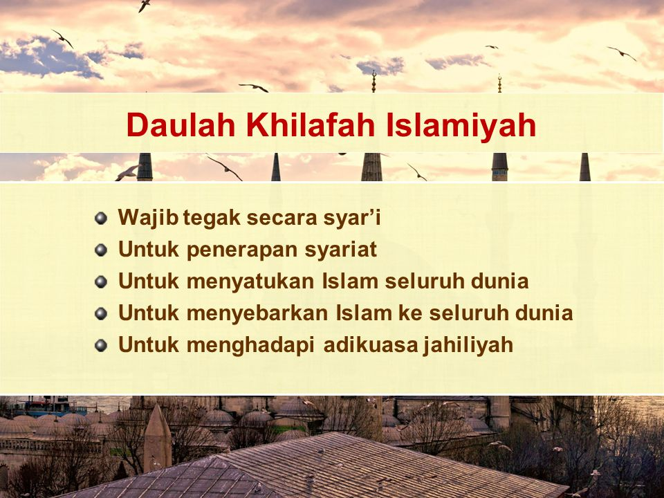 Daulah Khilafah Islamiyah