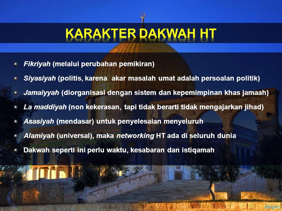 KARAKTER DAKWAH HT Fikriyah (melalui perubahan pemikiran)