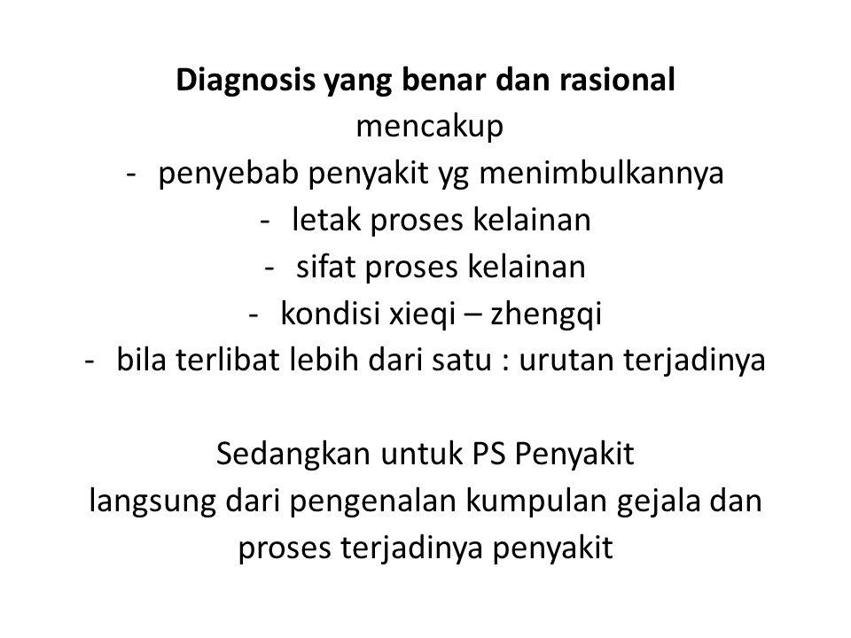 Diagnosis yang benar dan rasional