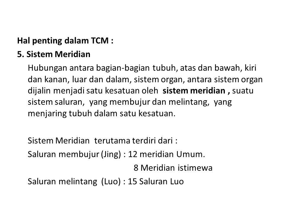 Hal penting dalam TCM : 5.