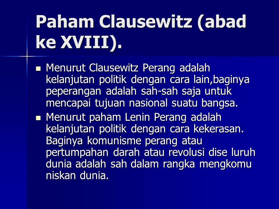 Paham Clausewitz (abad ke XVIII).