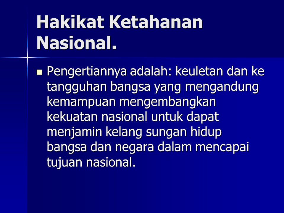 Hakikat Ketahanan Nasional.